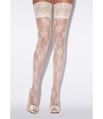 Charnos Bridal Floral Net Hold Ups