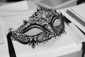 mask jewels black lace dentelle noir masque
