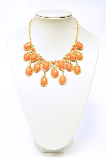 Ladies Melvin Coral Statement Necklace at Pop Couture UK