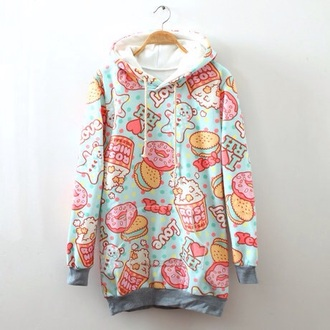 food funny colorful sweater