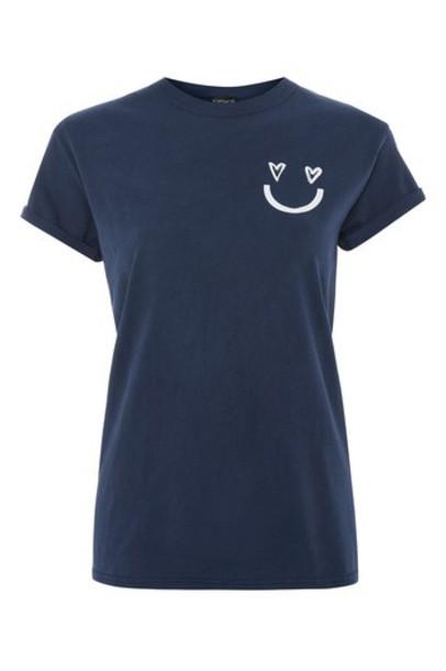 t-shirt shirt t-shirt navy blue top