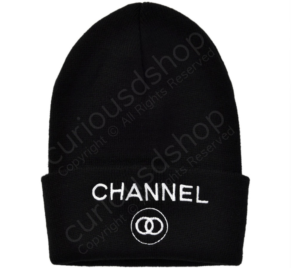 New Embroidered Channel Beanie Knit Hat Black Hype Dope Swag Designer PARODY | eBay