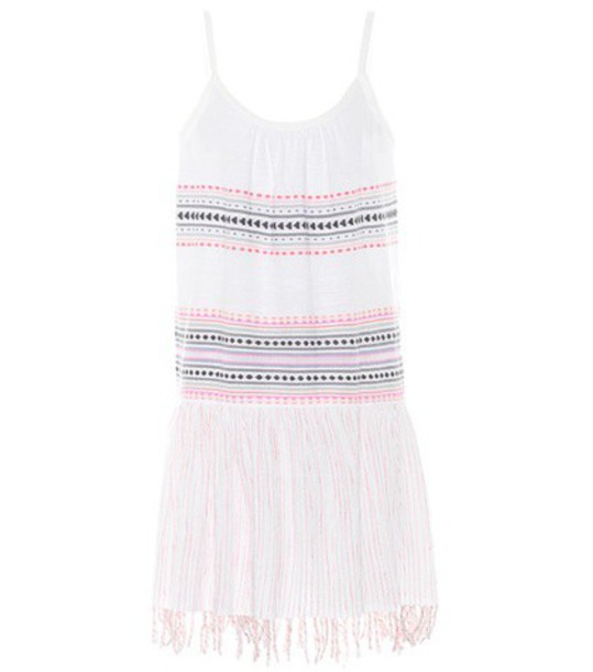 dress sleeveless cotton white