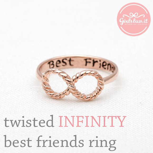 jewels jewelry infinity ring ring best friends ring best friends forever lovely twisted infinity ring bbf sweet16