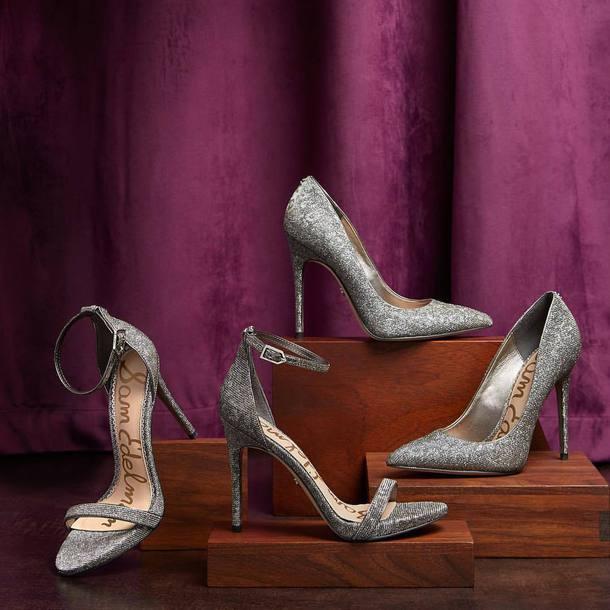 shoes silver shoes