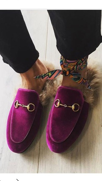 shoes, gucci shoes, gucci, slippers, gucci princetown - wheretoget