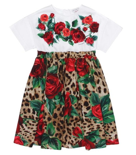 Dolce & Gabbana Kids Embroidered cotton dress