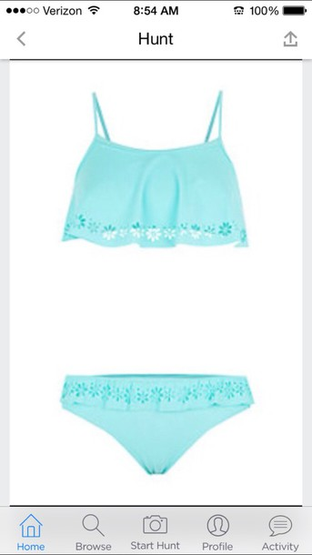 swimwear cute mint