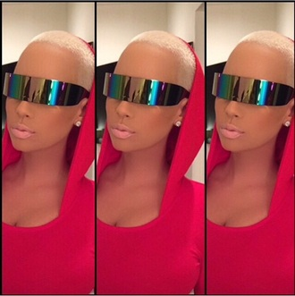 sunglasses eyewear shades futuristic amber rose