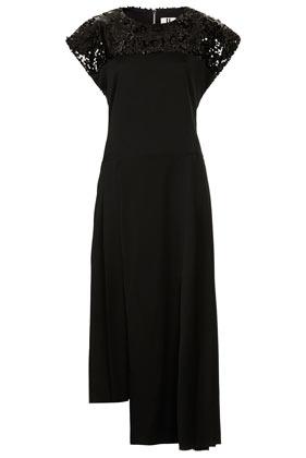 **Sequin Open Back Dress by Unique - Unique  - Clothing  - Topshop