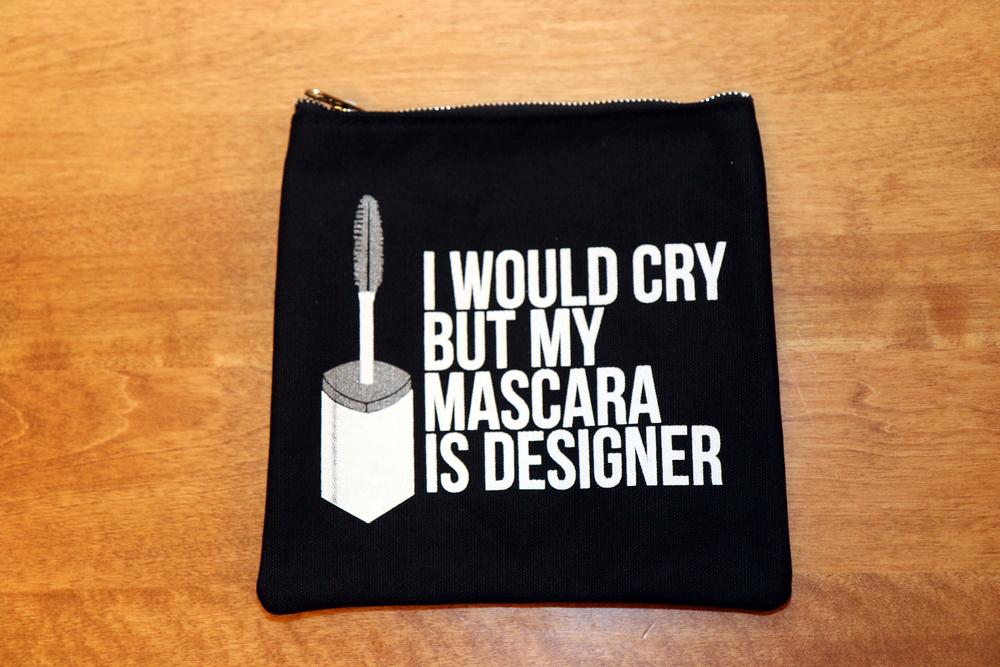 Mascara makeup clutch