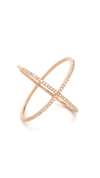 rose gold rose clear ring gold jewels
