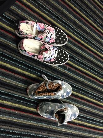 shoes vans stars cheetah print leopard print