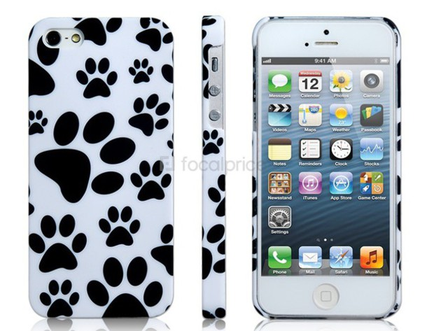 phone cover paw prints