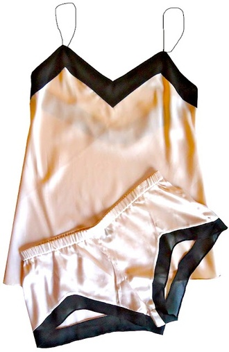 shirt silk pajamas clothes shorts tank top pink style fashion underwear two-piece sleepwear blair waldorf