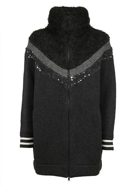 BRUNELLO CUCINELLI cardigan cardigan embellished black sweater