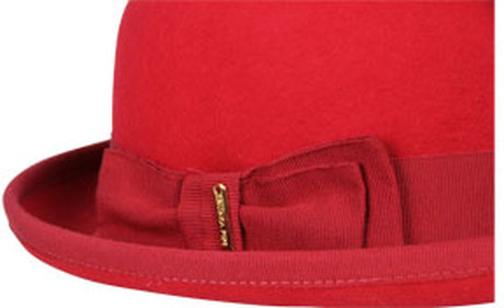Patrizia pepe bowler hat in red (dark red)