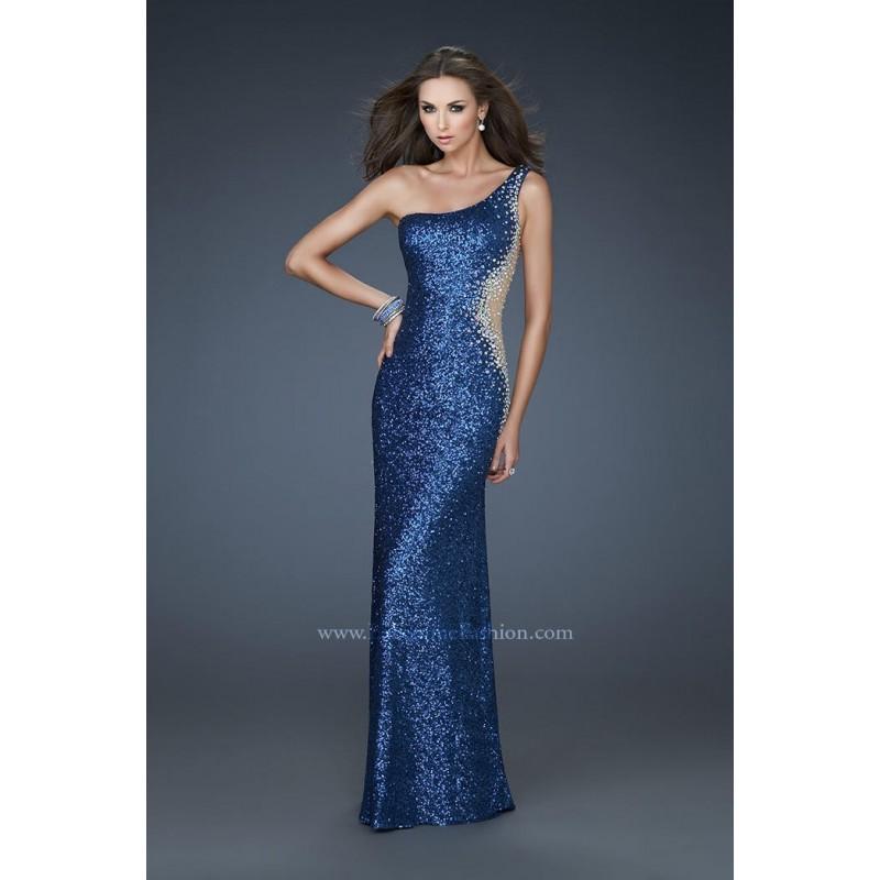 Slate Blue La Femme 17997 La Femme Prom - Rich Your Wedding Day