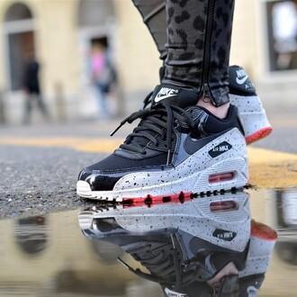 shoes nike air max 90 black grey sportswear brand fashion women menswear comfortable sneakers pink lovely nike