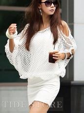 dress,white dress,mesh,black dress,summer dress,white dresses 2014,bat wing,bat wings,short dress,prom dress,mesh top,sexy,bodycon dress,club dress,casual,mesh dress