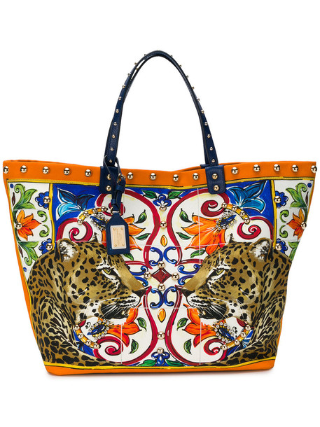 Dolce & Gabbana women animal leather cotton print animal print bag