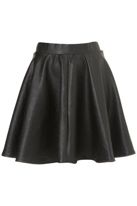 Black Full Skater Skirt - Topshop