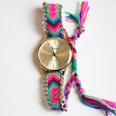 Friendship bracelet watch