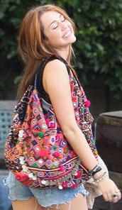 miley cyrus,multicolor,hobo bag,bag