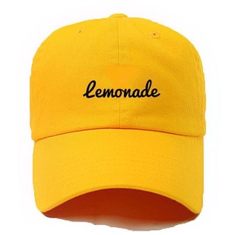 hat yellow lemonade