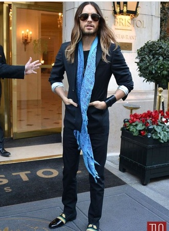 jacket navy blazer jared leto mens jacket