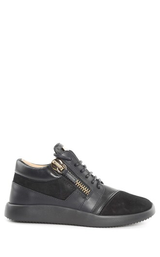 sneakers leather suede shoes