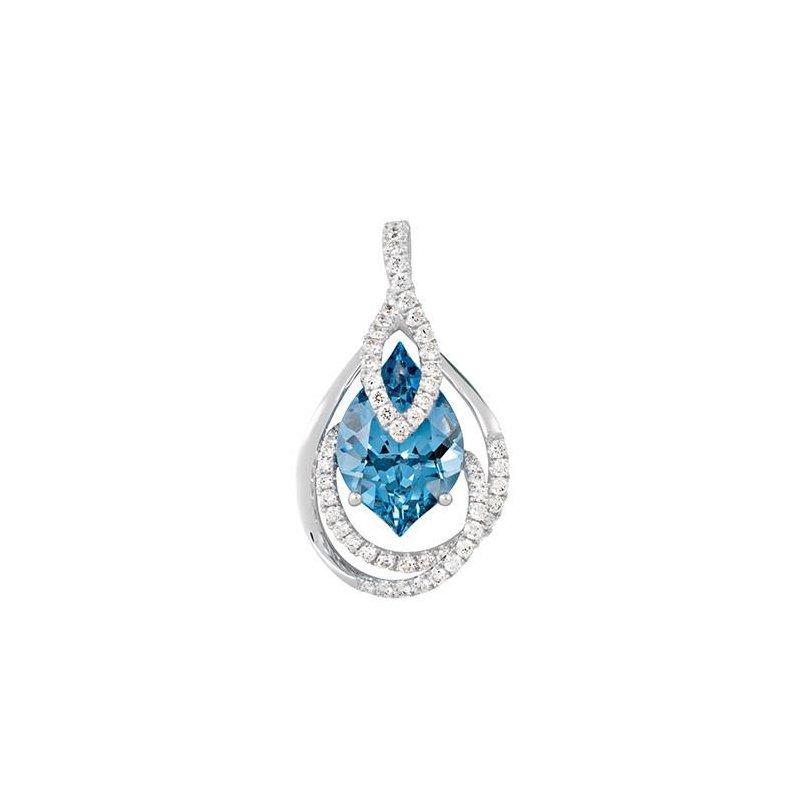 Chatham Aqua Blue Spinel Pendant-CP3995WAQ