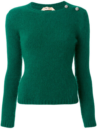 sweater women wool green