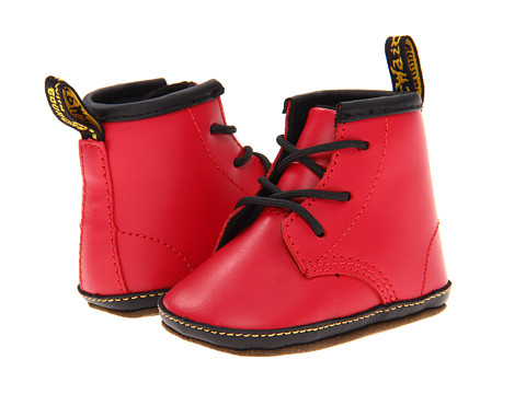 Dr. Martens Auburn Lace Bootie (Infant/Toddler) Red Kids Lamper - Zappos.com Free Shipping BOTH Ways