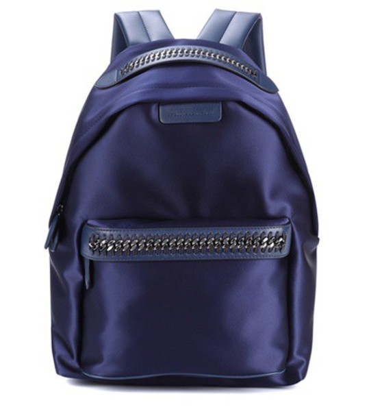 Stella McCartney backpack satin blue bag
