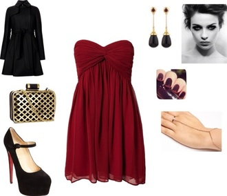 dress red dress sweetheart dresses knot