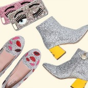 shoes,ferragni,glitter,loafers,kiss,lips,silver,metallic,new season,spring outfits,party,party outfits,fashion blogger,eyes,glitter shoes,silver shoes,mid heel boots,smoking slippers,flats,flirting,lip print,summer,summer outfits