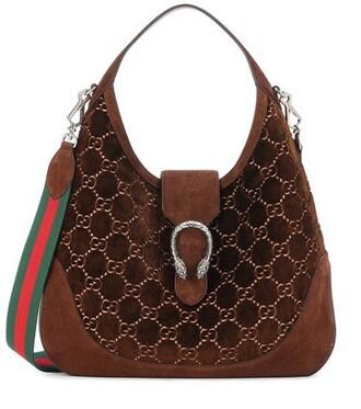 bag shoulder bag velvet brown