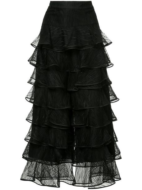 Huishan Zhang dress women black silk