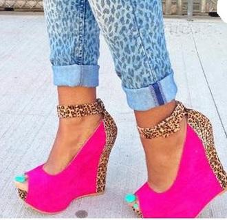denim embellished denim wedge sandals