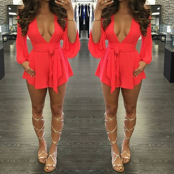 romper red splash boutique summer playsuit cute playsuit backless romper cut out romper seattle fashion blogger