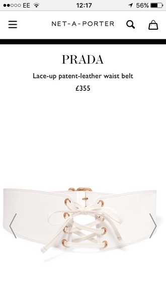 belt corset lace up white instagram trendy gold