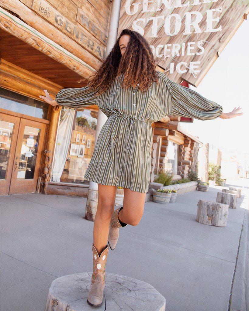 The Bonnie Dress | Bamboo Stripe