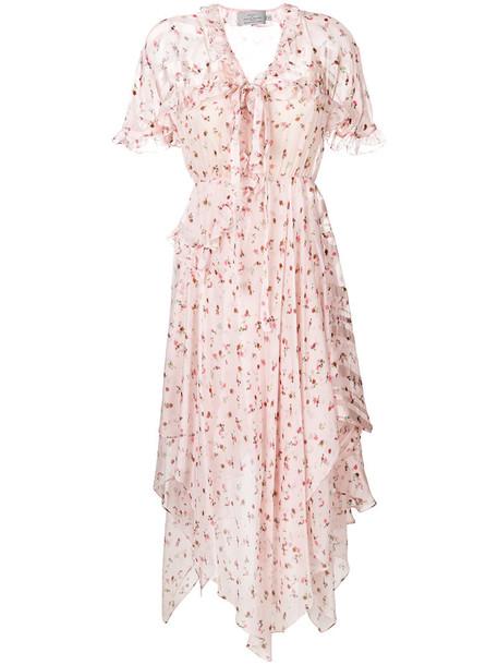 PREEN BY THORNTON BREGAZZI dress women silk purple pink