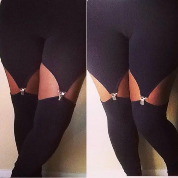 pants garter leggings