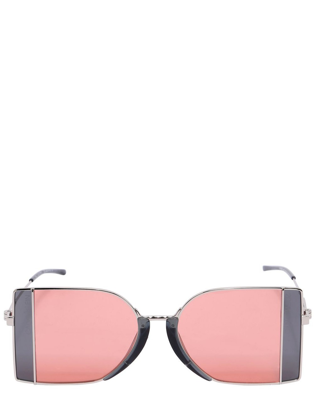 CALVIN KLEIN 205 W39 NYC Squared See-thru Lens Sunglasses in grey / pink