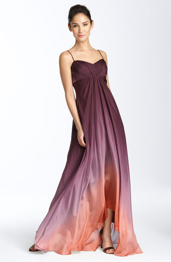 JS Collections Ombré Chiffon Gown | Nordstrom