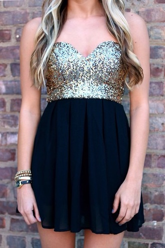dress sequin dress strapless dresses black dress