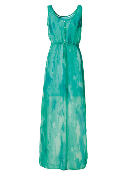 dress buttons summer dress turquoise dress maxi dress