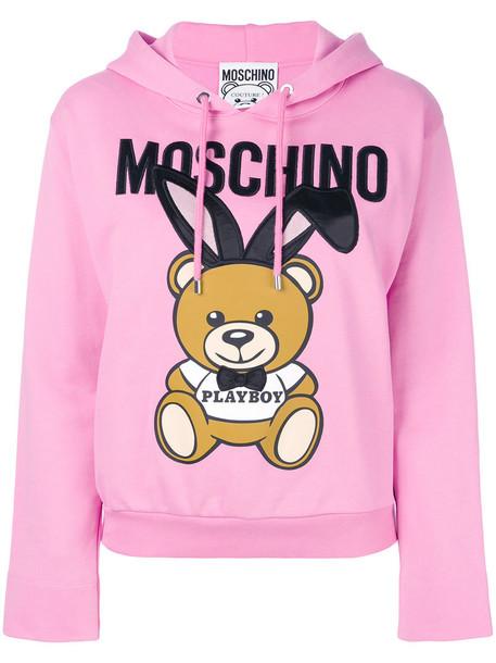 hoodie women cotton purple pink sweater